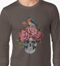 Skull and Roses with Bird T-Shirt