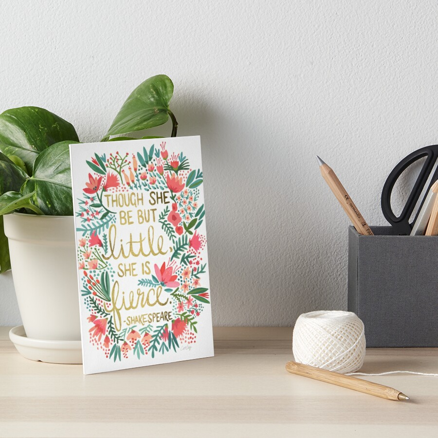 Little & Fierce Art Board Print