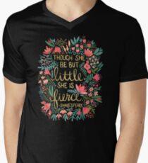 Little & Fierce on Charcoal T-Shirt