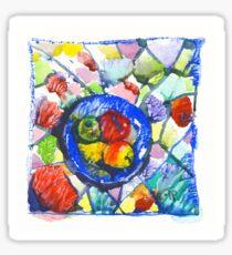 Apples. Watercolor. Sticker