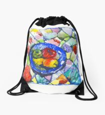 Apples. Watercolor. Drawstring Bag