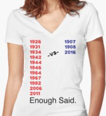 Enough Said (Baseball Edition) Women's Fitted V-Neck T-Shirt