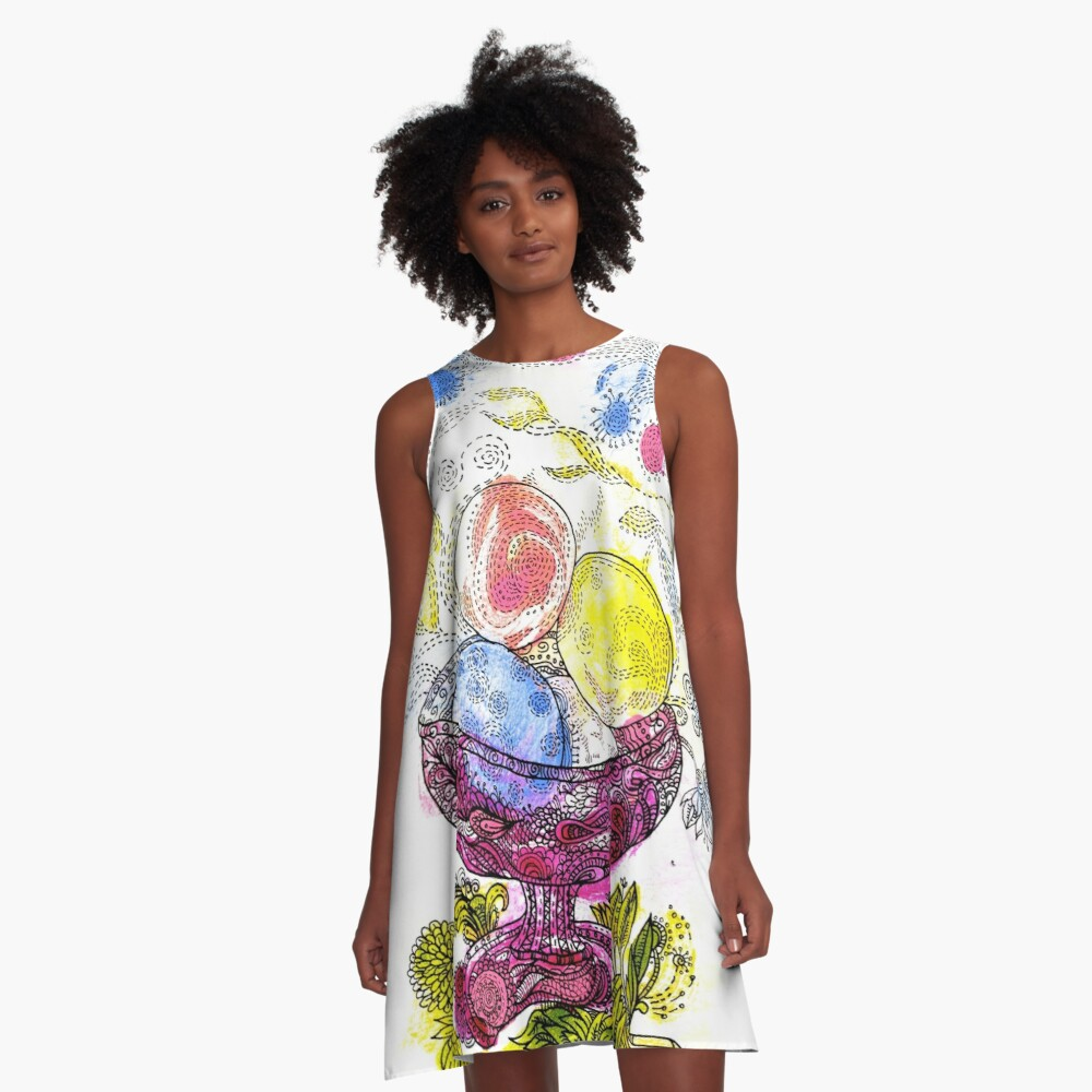 Ice Cream A-Line Dress