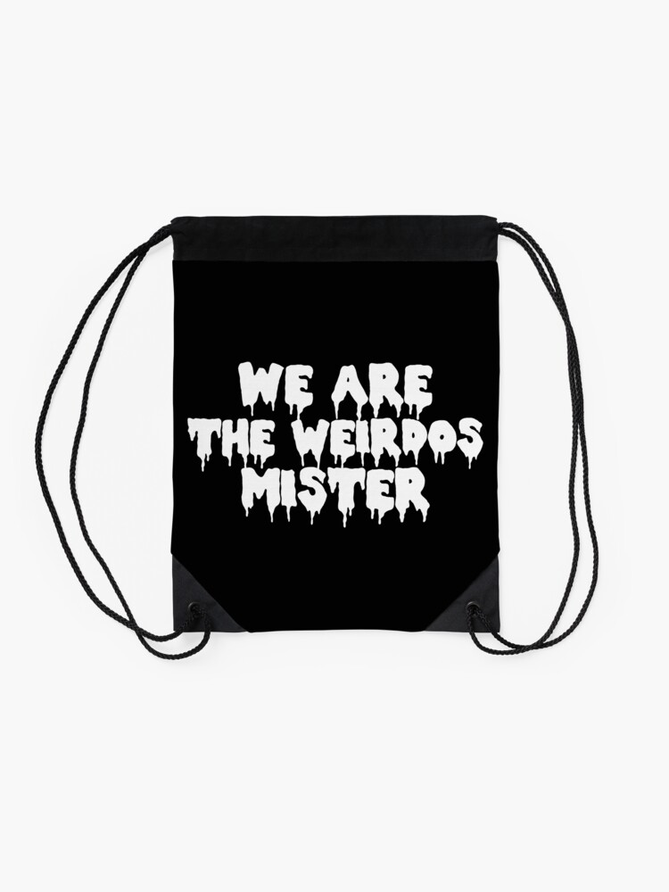 Alternate view of The Craft We Are the Weirdos Drawstring Bag