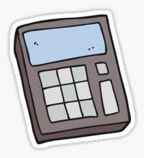 cartoon calculator Sticker