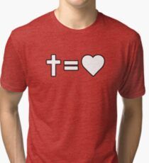 Christian Symbol Tri-blend T-Shirt