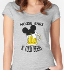 Mouse Ears N' Cold Beers (Epcot version) Women's Fitted Scoop T-Shirt