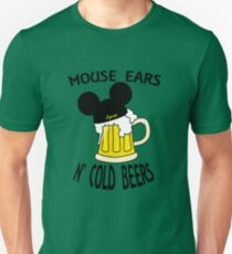 Mouse Ears N' Cold Beers (Epcot version) Unisex T-Shirt
