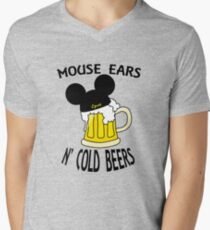 Mouse Ears N' Cold Beers (Epcot version) Men's V-Neck T-Shirt