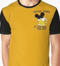 Mouse Ears N' Cold Beers (Epcot version) Graphic T-Shirt