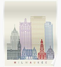 Milwaukee skyline poster Poster