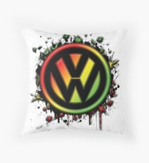 Reggae Volkswagen Throw Pillow