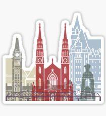 Ottawa skyline poster Sticker