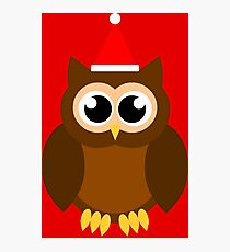 A Very Hooty Christmas (no text) Photographic Print