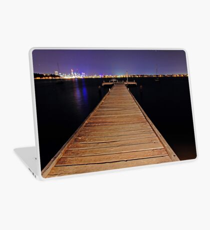 Pelican Point Jetty At Night  Laptop Skin