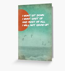 Frank Turner lyrics Greeting Card