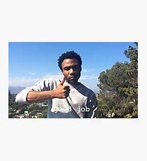 Childish Gambino Good Job Photographic Print