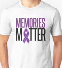Alzheimer's Awareness Memories Matter Unisex T-Shirt