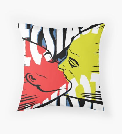 The Color of Lust Throw Pillow