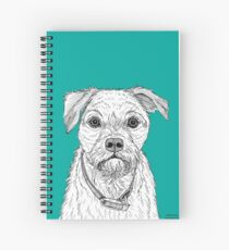 Border Terrier Portrait Spiral Notebook