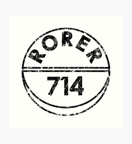 RORER 714 Art Print