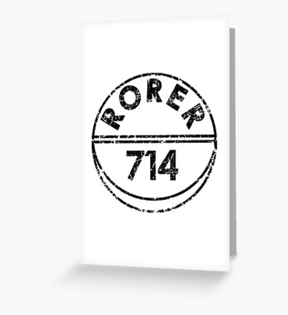 RORER 714 Greeting Card