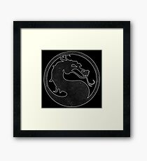 °GEEK° Mortal Kombat B&W Logo Framed Print