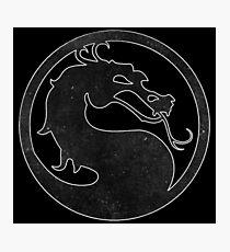 ° GEEK ° Mortal Kombat B & W Logo Photographic Print