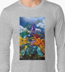 5 of Wands Long Sleeve T-Shirt