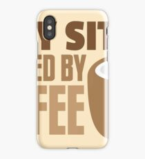 BABY sitter powered by coffee iPhone Case/Skin