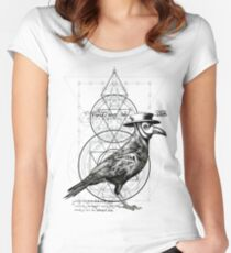 The Raven Women's Fitted Scoop T-Shirt