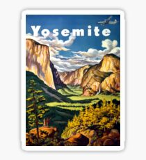 Vintage Yosemite National Park California Travel Sticker