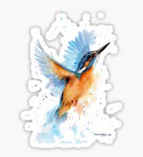 Kingfisher watercolour Sticker