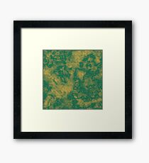 Lush Meadow Spicy Mustard Marble Framed Print