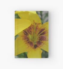 Yellow Floral Hardcover Journal