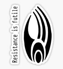 Resistance is Futile - (Borg Insignia) Sticker