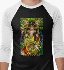 Queen of Pentacles Men's Baseball ¾ T-Shirt