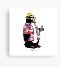 Party Penguin Metal Print