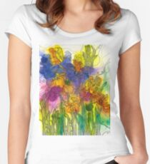 Beautiful Irises Fitted Scoop T-Shirt