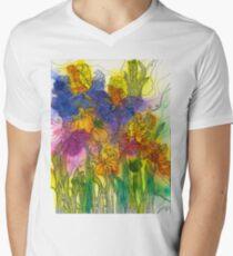Beautiful Irises V-Neck T-Shirt