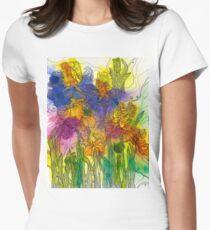 Beautiful Irises Fitted T-Shirt