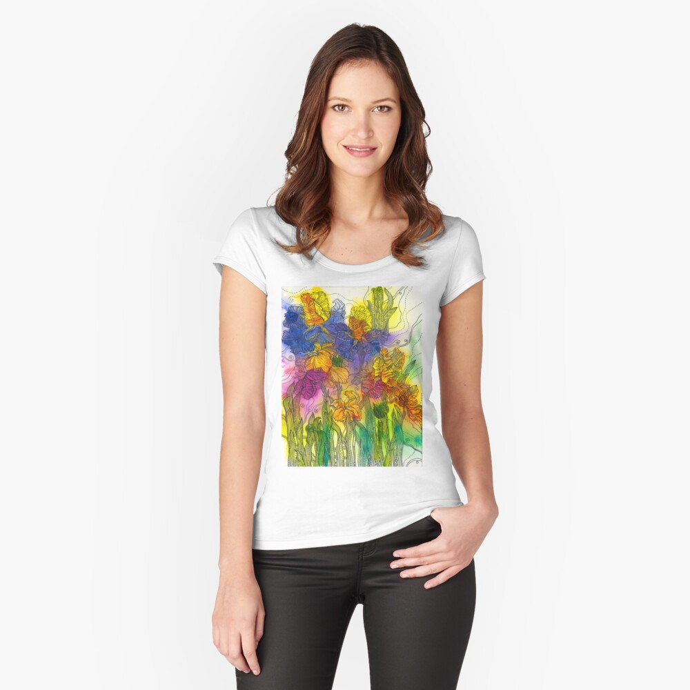 Beautiful Irises Fitted Scoop T-Shirt