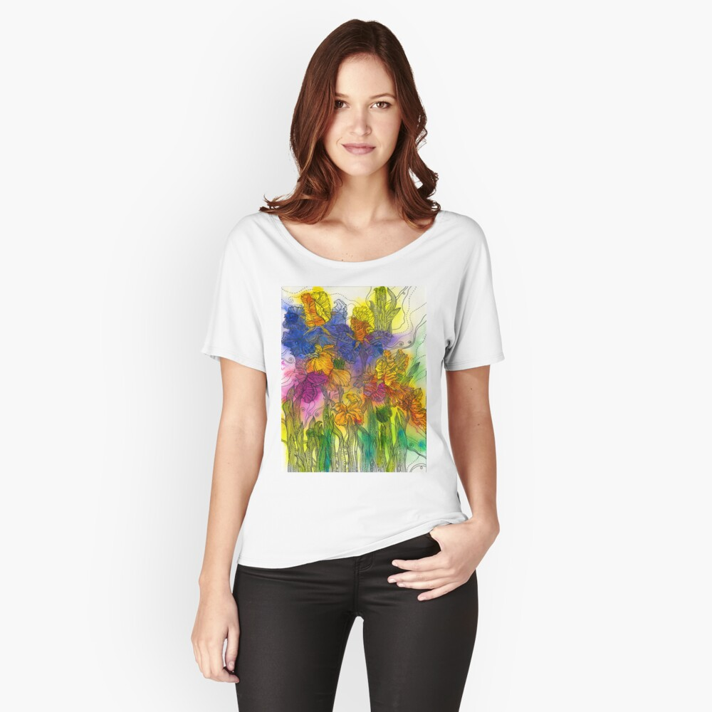 Beautiful Irises Relaxed Fit T-Shirt