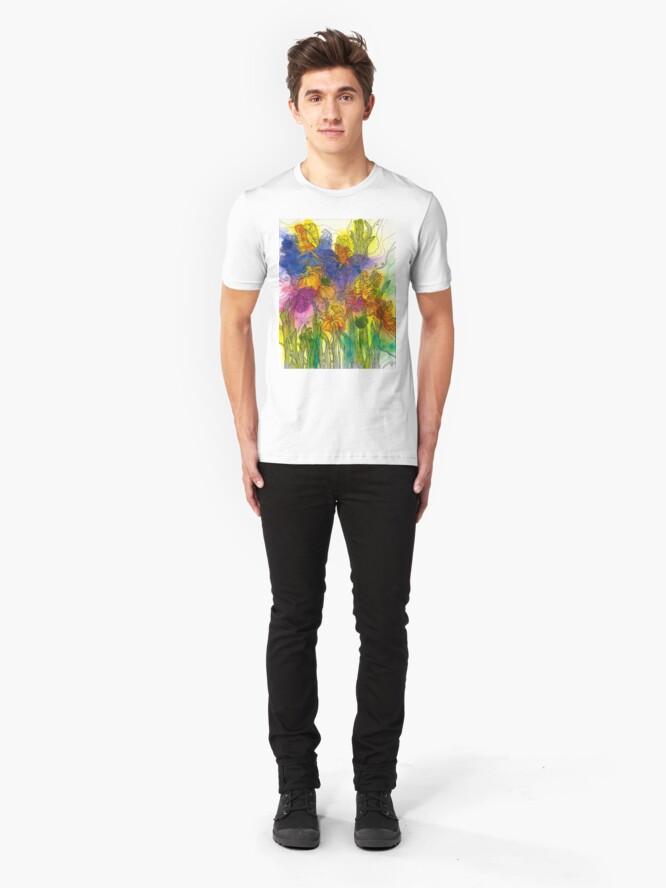 Alternate view of Beautiful Irises Slim Fit T-Shirt