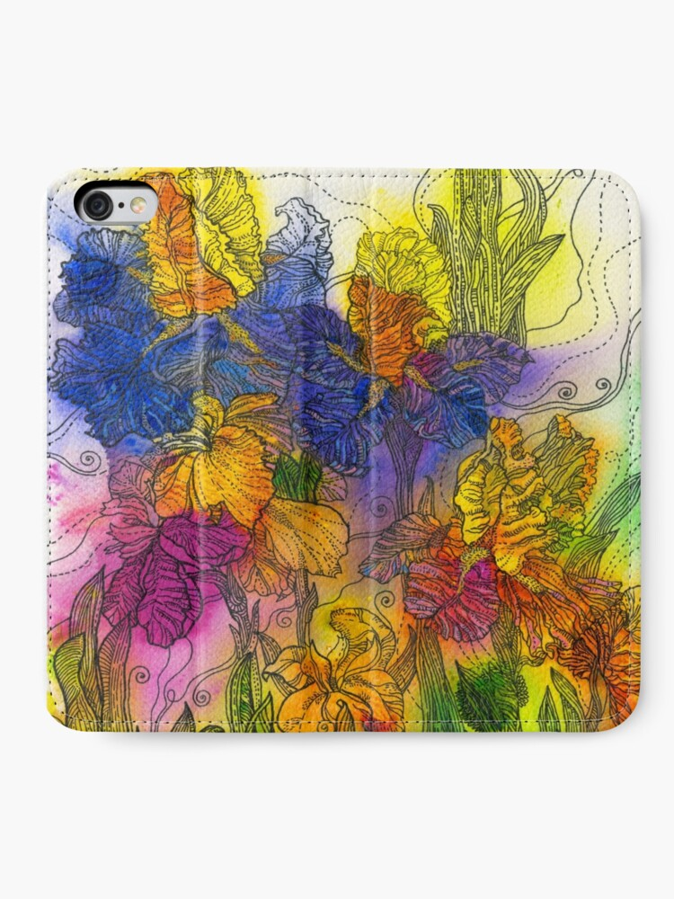Alternate view of Beautiful Irises iPhone Wallet