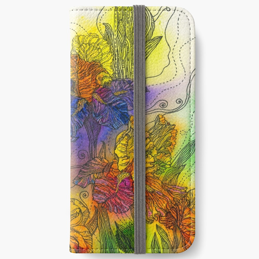 Beautiful Irises iPhone Wallet