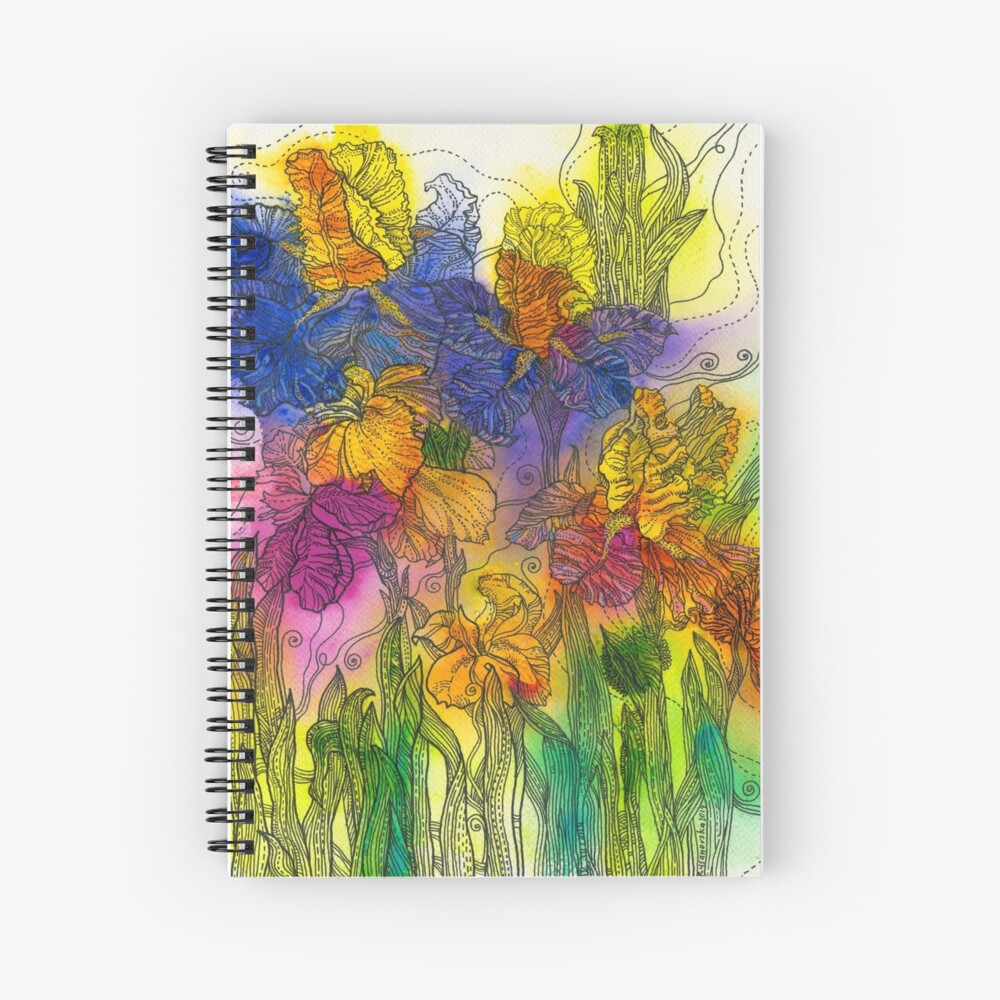 Beautiful Irises Spiral Notebook