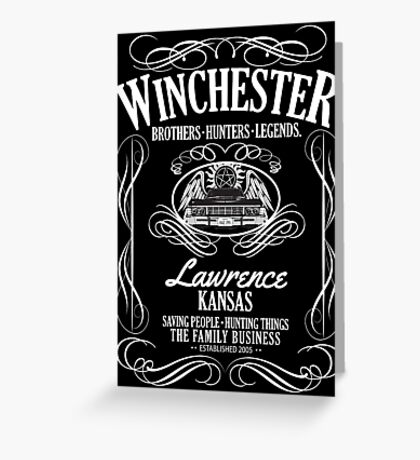 Winchester - American Legends Greeting Card