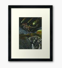 Dooms day and Dinos  Framed Print