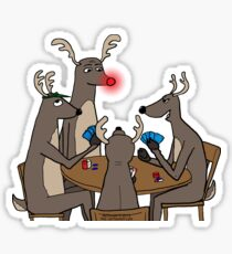 Reindeer Games Sticker